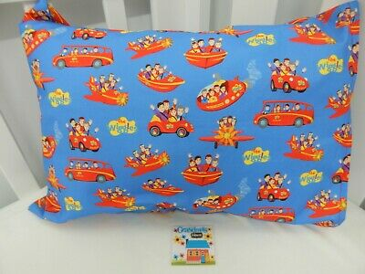 Wiggles Big Red Pillowcase Child Toddler Size Blue 100% Cotton