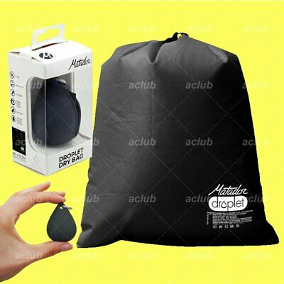 Matador Droplet 3L Bag for Wet Dry Outdoor Beach Gym Gear Silicone Storage BLACK