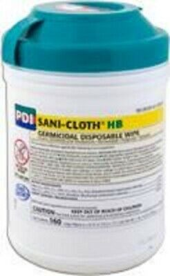 Sani-cloth Hb Germicidal Wipes Alcohol Free LARGE 160/tub. BRAND  6 PACK