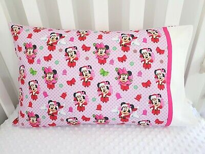 Minnie & Mickey Mouse Christmas print toddler pillowcase - lilac / pink