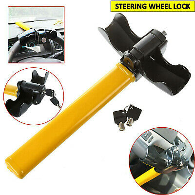 Universal Car Steering Wheel Lock Anti Theft Rotary Security Safe Van Auto Car