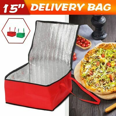 """15"""" Pizza Delivery Bag Insulated Thermal Food Storage Holder Outdoor Picnic"""
