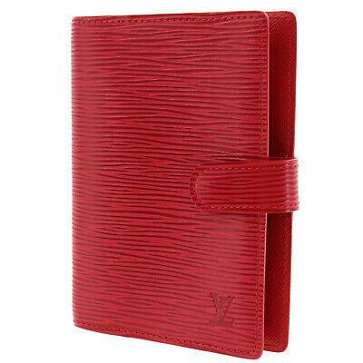 LOUIS VUITTON Agenda PM Day Planner Cover Red Epi R20057 Vintage Auth #CC818 I