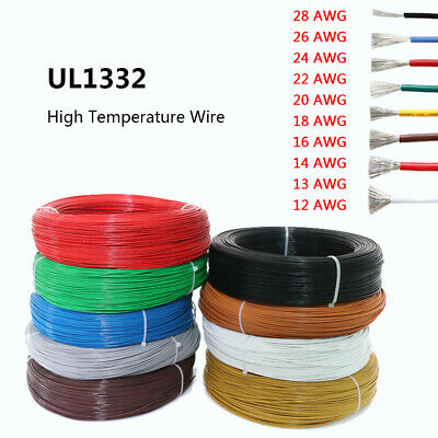 12AWG to 28AWG UL1332 FEP Electrical Wire Stranded Tinned Copper Cable Colorful