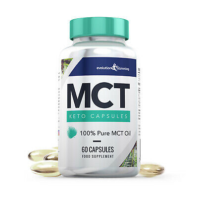MCT Oil KETO Capsules Pure Organic Coconut Sourced Ketogenic Diet *60 Capsules*