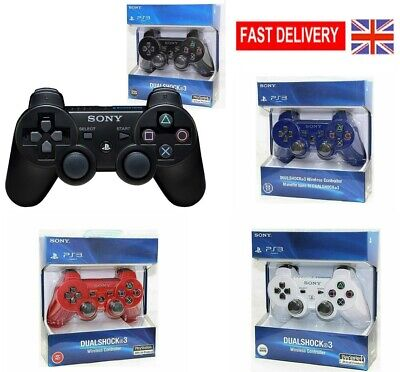 UK DualShock Wireless Bluetooth Game Controller Gamepad for PS3 PlaySation 3 ST