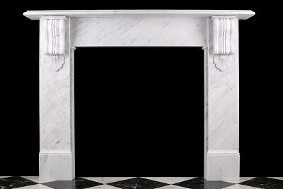 Fireplace Surround Victorian Corbel in High Quality White Carrara Marble