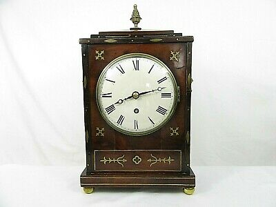 Regency Mohagany Mantel Clock c1820
