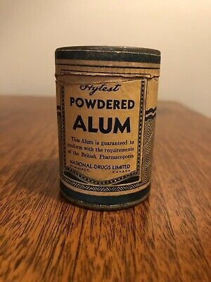 Vintage Hytest Alum Powered Tin W/ Label 2 Oz National Drugs Limited Full Rare