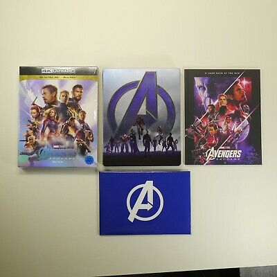 Avengers Endgame 4K UHD Blu-ray [Limited Edition, Slip Cover, SteelBook, 3Discs]