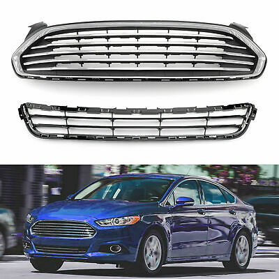 Fits Ford Fusion 2013-2016 Front Bumper Upper & Lower Grille Assembly DS7Z8200BA