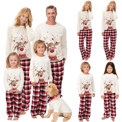 XMAS PJs Family Matching Adult Women Kids Christmas Nightwear Pyjamas Pajamas