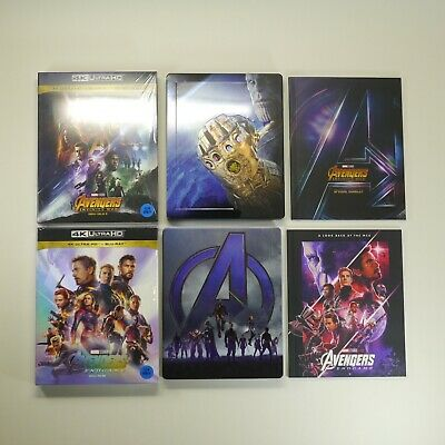 Avengers Infinity War & Endgame SET 4K Blu-ray [Limited Edition,SteelBook,6Disc]