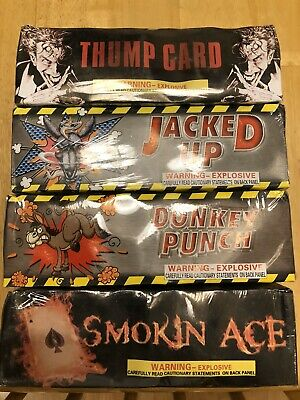 Firework Big Cracker Label Lot Boxes