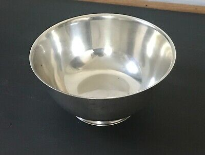 Vtg Silver Plate Paul Revere reproduction footed bowl Wm A Rogers 8""