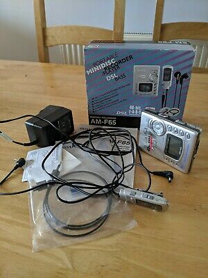Aiwa AM-F65 Minidisk Recorder boxed complete immaculate