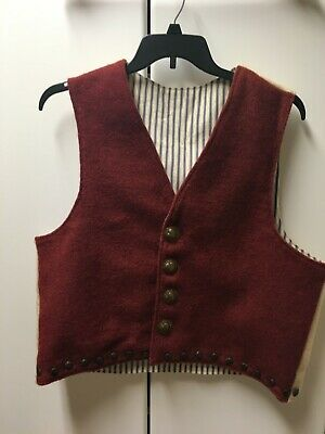 Native American/Colonial American Style Wool Vest Unisex Large
