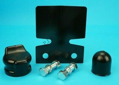 Black Bumper Protector & BOLTS with Towball & Socket Cover Towbar - Trailer