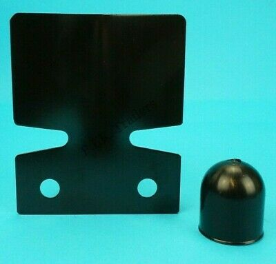 Black Bumper Protector with Towball Cover - Tow Ball Towbar - Trailer Caravan