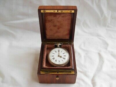 Antique French Inlaid Wood Pocket Watch Box,Signed,Napoleon Iii Period.