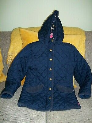 Joules.... Fab Girls Navy Quilted Coat Age 8 Height 128 Cms