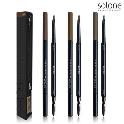 [SOLONE] Precise Triangle Brow Eyebrow Pencil Liner with Built-in Brush NEW