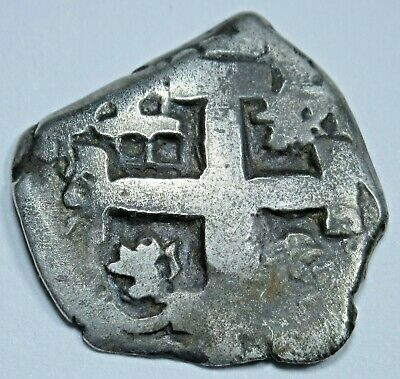1767 Spanish Silver 1 Reales Cob Piece of 8 Real Colonial Pirate Treasure Coin