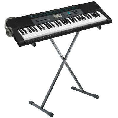 Electronic Keyboard Full Size Piano Keys Portable Stand Headphones Learn Music