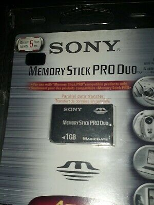 Official SONY Memory Stick Pro Duo 1GB Genuine Black Card 1.0 gb PSP