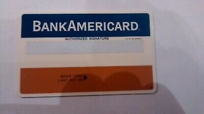 BankAmericard credit card blank, never issued, never embossed. Appx 50 years old