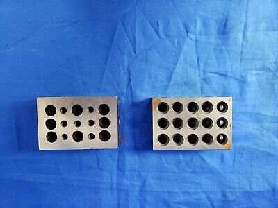 1-2-3 Blocks 23 Holes for one and Machinist 123 block