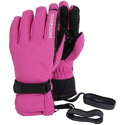 Didriksons Five Youth Waterproof Gloves | Plastic Pink