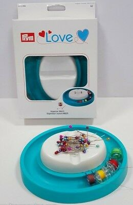 Prym Love Multi Organiser Bobbin Ring.magnetic Pin Cushion, Plastic Storage Tin