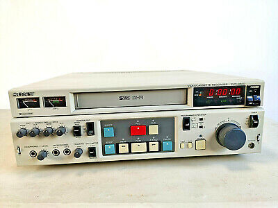 Sony Videocassette recorder SVO-9600 S-Vhs Video Deck PARTS / REPAIR ONLY