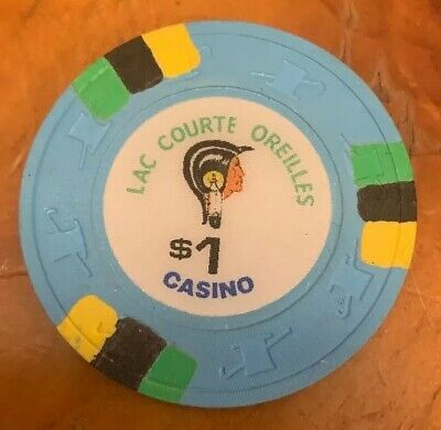 $1.00 LAC COURTE OREILLES Casino Chip - PAULSON TH&C - RARE AND OBSOLETE