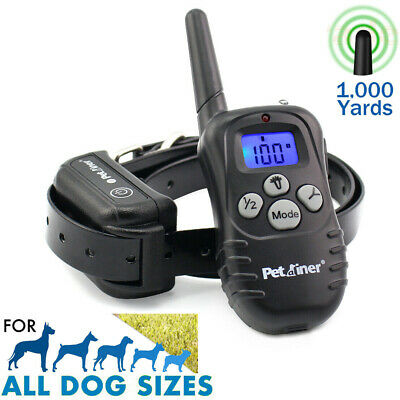 Electric Dog Shock Training E Collar PetRemote Control Trainer Waterproof 1000FT