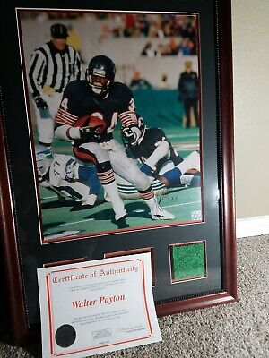 Museum Quality Framed Autographed 16 X 20 Walter Payton Piece Of History