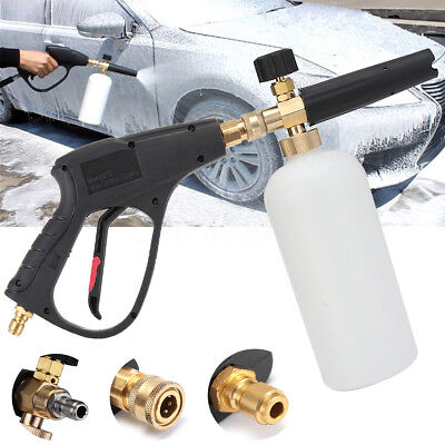 "3/8""  Foam Washer Gun Car Wash Soap Lance Cannon Spray Pressure Jet Bottle"