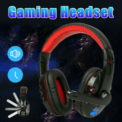 AU Wireless Headphone Gaming Headset Mic LED Stereo for PS4 Xbox One Smartphone