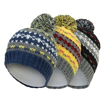 Lego Ninjago Boys Warm Winter Hats Beanie Bobble Pom Pom Knitted 2-10Yrs 2018//19