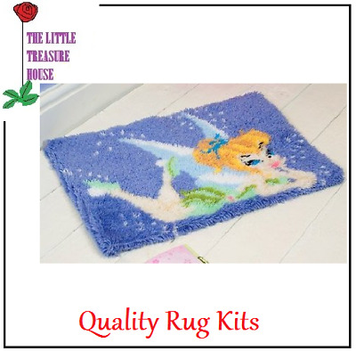 Blue Fairy Printed Canvas Latch Hook Rug Kit - *NEW* Everything included