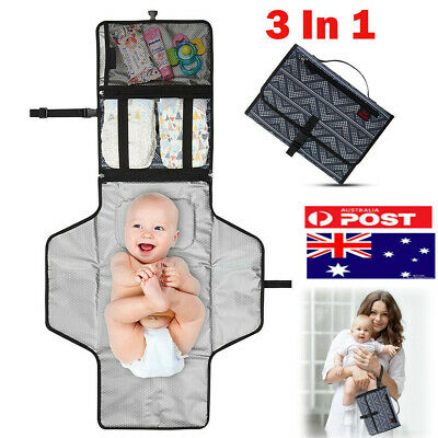 Foldable Waterproof Baby Diaper Changing Mat Travel Change Nappy Pad Reusable AU
