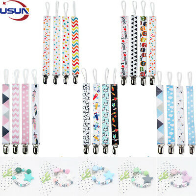 Usun Dummy Clips Baby Pacifier Chain Holder Kit Pacifier Teething Strap Silicone