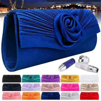 Small Women Satin Bag Clutch Prom Wedding Bridal Evening Party Messenger Handbag