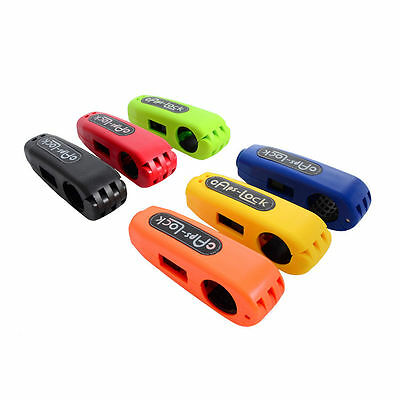 Motorcycle Scooter Handlebar Grip Brake Lever Anit Theft Security Caps-Lock YG