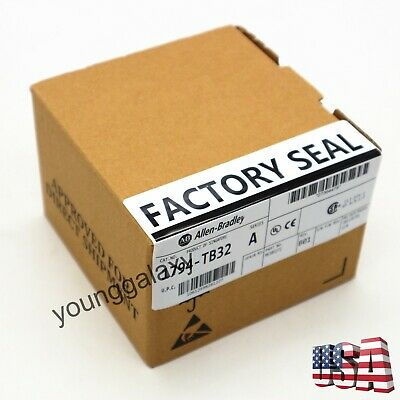 New Seal Allen Bradley 1794-TB32 Flex 8 Point Analog Input Module SER A PLC