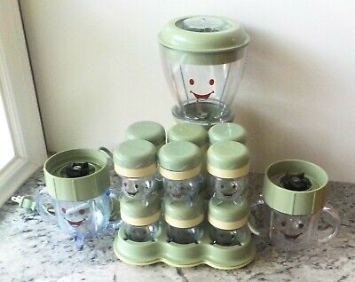 LOT - 17 PIECE Magic Baby Bullet Food Blender System (EUC)
