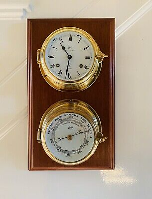 West German Schatz Royal Mariner Brass Ships Clock and Barometer (ships Bell)