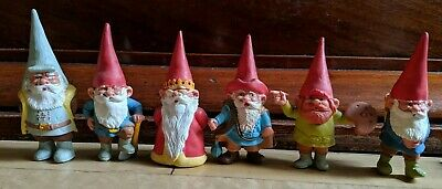 Vintage David The Gnome Figures. BRB. Kabouter. Huygen. PVC Assorted