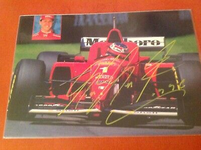 "AUTOMOBILISMO F1 M.SCHUMACHER cartolina ""World Collection"" con autografo"
